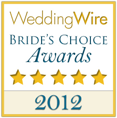 2012 WeddingWire Couples' Choice Award